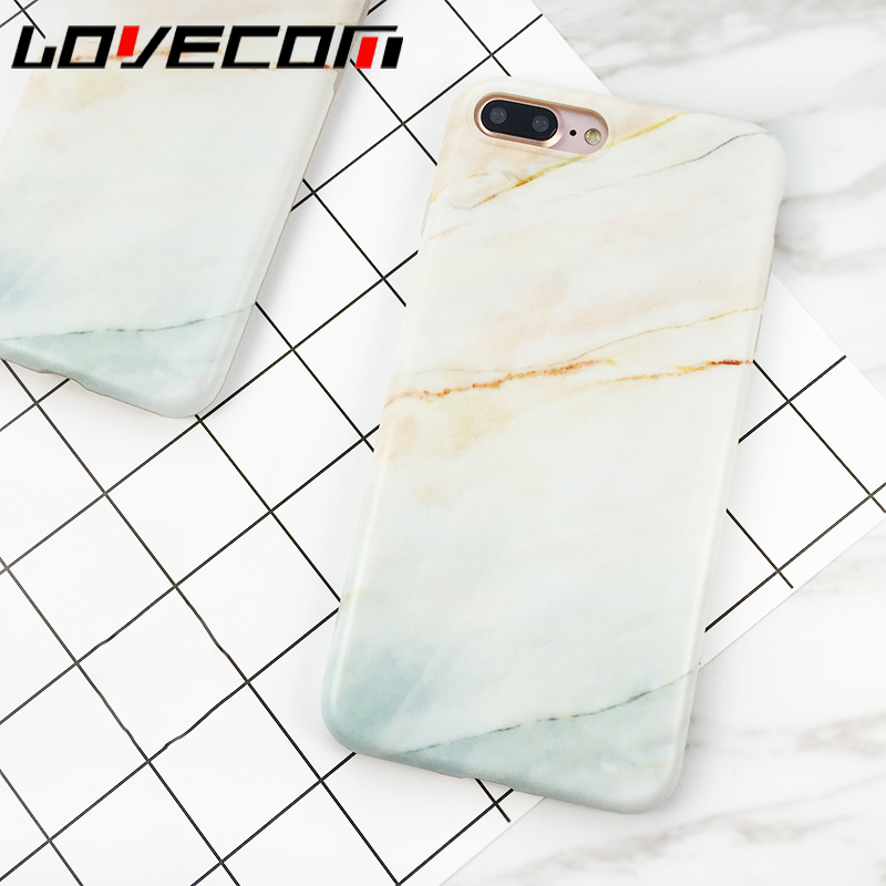 Lovecom coral mármol granito matorrales de moda las cajas del teléfono para ipho