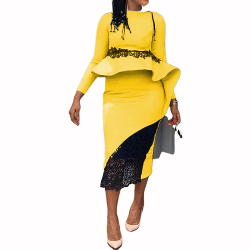 2019 New Elegent Fashion Style Summer And Autumn African Women Plus Size Dress