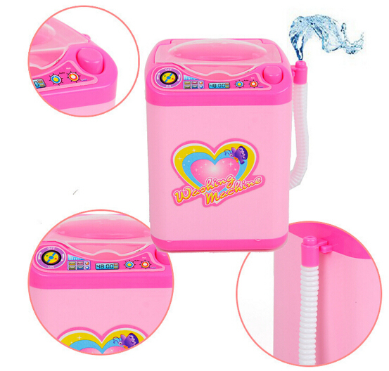 Educational Toy Mini Electric Washing Machine Children Pretend & Play Baby Kids Home Appliances Toy 4