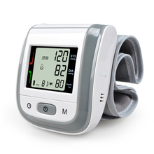 New! Tonometer Automatic Wrist Digital Blood Pressure Monitor Digital lcd Sphgmomanometer Heart Beat Rate Pulse Meter Grey Color