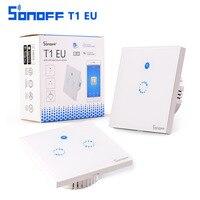 Sonoff T1 EU WiFi RF APP Touch Control Wall Light Switch 1 2 Gang 86 Type