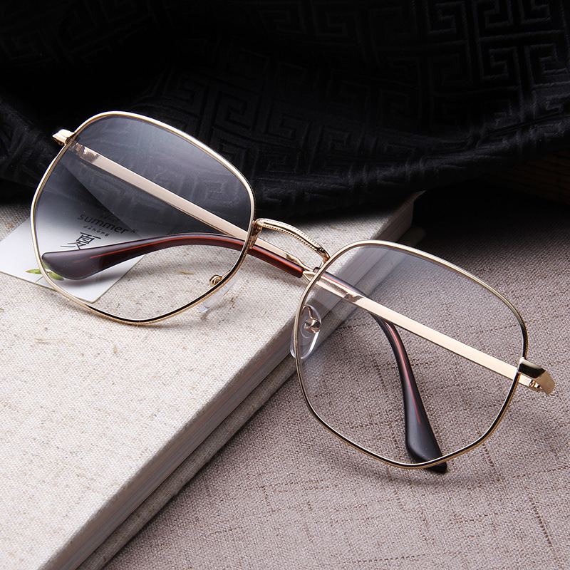 Flat Mirror Beauty Face Artifact Men And Women Glasses Thin Large Frame Face Wild Square Eyeglasses Frame Spectacles