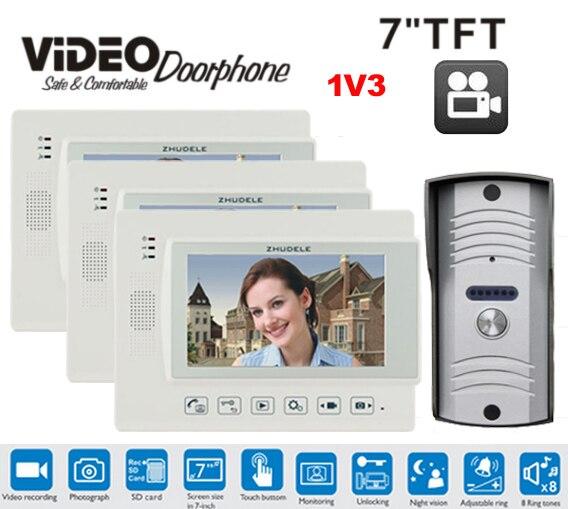 Audio Intercom Türsprechstelle Verantwortlich Zhudele Top Qualität 6-apartments Sprechanlage Home Security Audio-türsprechanlage Kits 008a Innengerät