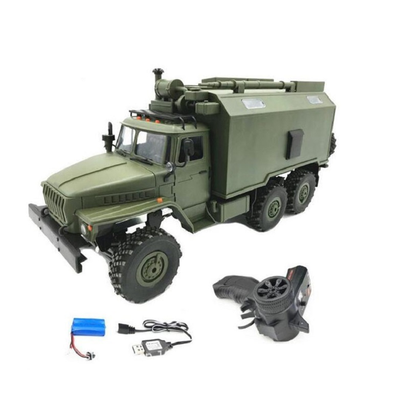 1/16 WPL B36 Ural 1/16 2.4G 6WD RC Car Military Truck  Rock Crawler Command Communication Vehicle RTR Toy Auto Army Trucks1/16 WPL B36 Ural 1/16 2.4G 6WD RC Car Military Truck  Rock Crawler Command Communication Vehicle RTR Toy Auto Army Trucks