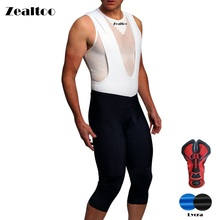 Zealtoo Spring Cycling Ropa Ciclismo Quick-dry 3/4 bib pants Breathable tights MTB Bicycle maillot bike