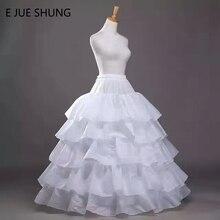 E JUE Шунг Бесплатная доставка 4 обручи 5 слоев свадебное пышная бальная юбка кринолин нижняя юбка для Свадебное платье Высокое качество