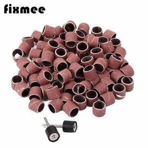 Image 3 - 100x chà nhám tay áo 1/2 Giấy chà nhám mài nhám dụng cụ Dremel Rotary giấy nhám nhám đánh bóng cho chế biến gỗ