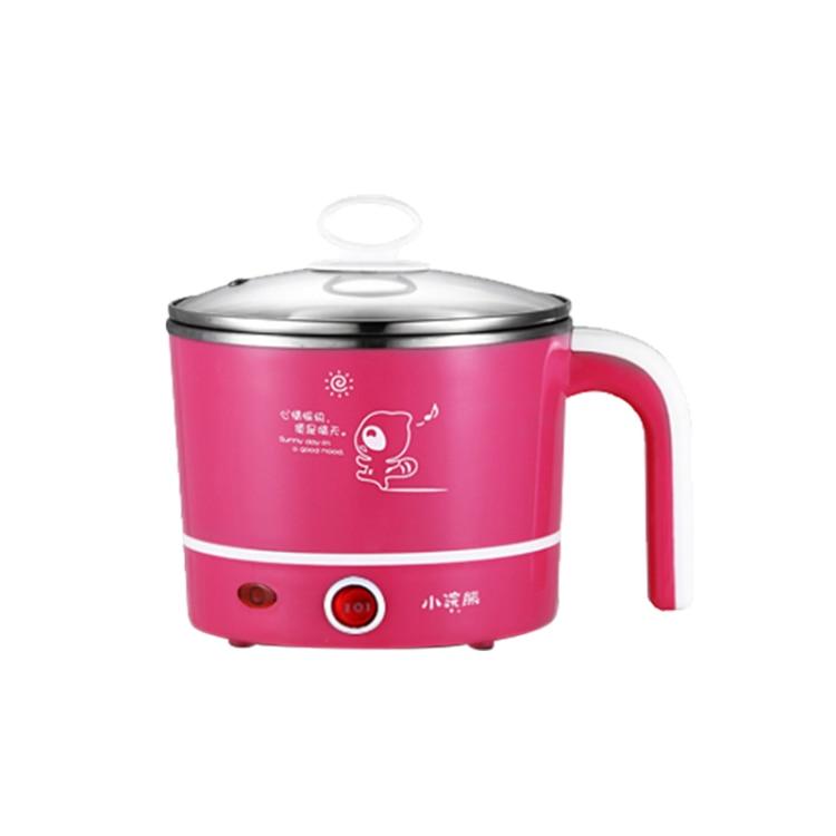 Kitchen Appliances Kitchen Accessories Multifunction Electric Skillet Cooking Pot 1.2l Pink