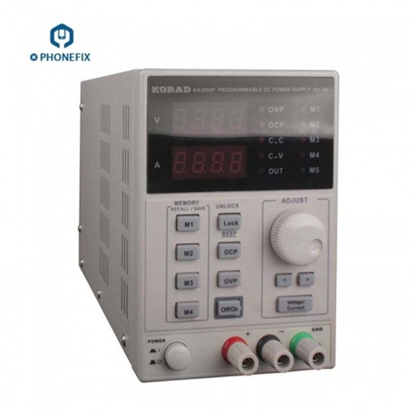 KORAD KA3005D réglable numérique Programmable DC alimentation de laboratoire alimentation 30 V 5A + sonde multimètre pour la réparation de téléphone
