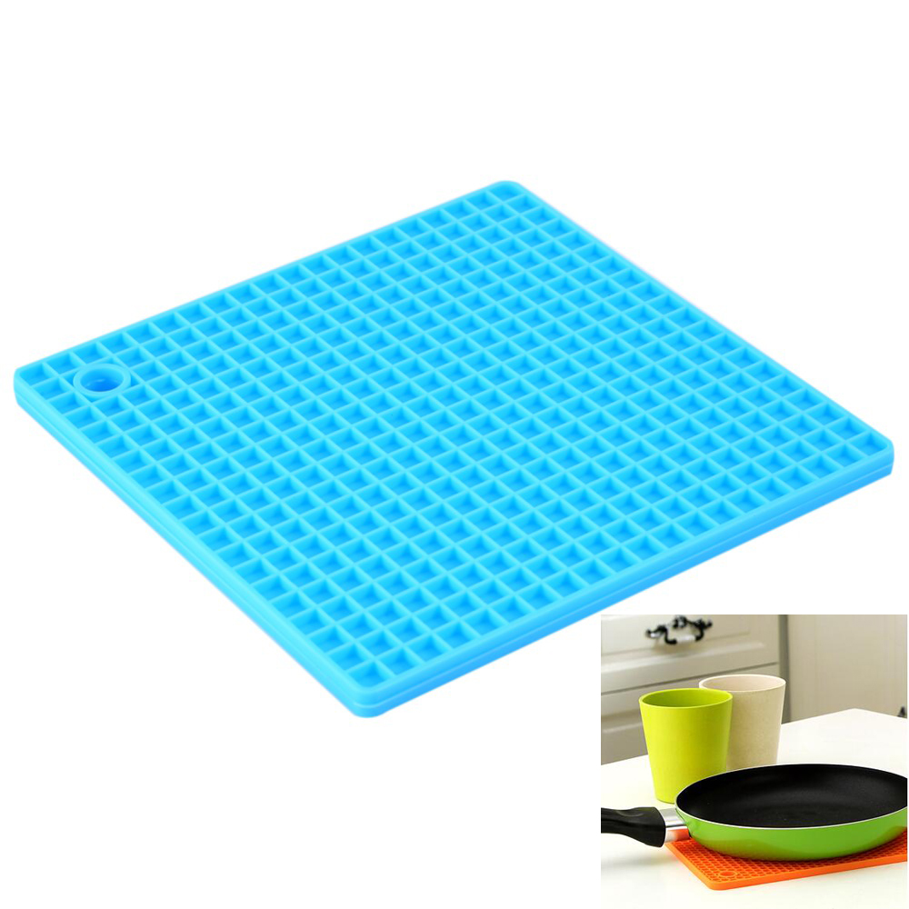 7 Inch Silicone Heat Resistant Mat Placemat Kitchen Food Mat Pad Insulated  Heat Resistant Pan Table Mat Desk Kitchen Accessories In Mats U0026 Pads From  Home ...