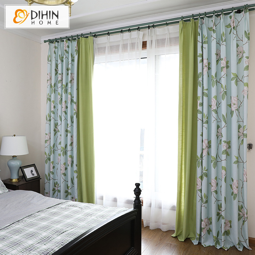 High Window Curtains: DIHINHOME New Blackout Curtains For The Living Room High