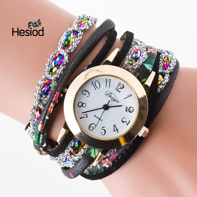 2017 Super Deal Fashion Women's Watches Retro Bracelet Watch Synthetic Leather Q