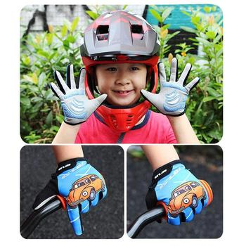 Kids Cycling Gloves Full Finger Non-Slip Skate Riding Mountain Bike Outdoors Sports Children Protective Gloves Cycling Equipment