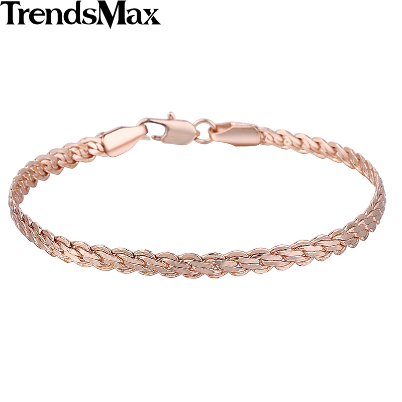 Trendsmax Women Bracelets 585 Gold Bracelets