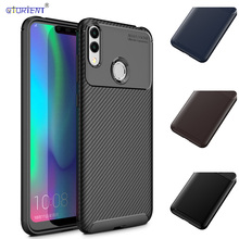 Huawei Honor 8C C8 8 C Phone Cover Honor8C BKK-L21 Carbon Fibe Silicone TPU Case for HUAWEI Honor C8 8C BKK L21 TPU Bumper Funda