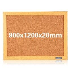 Cork board 120x90cm cork message board photo board wooden border pin insert notice board display 8765