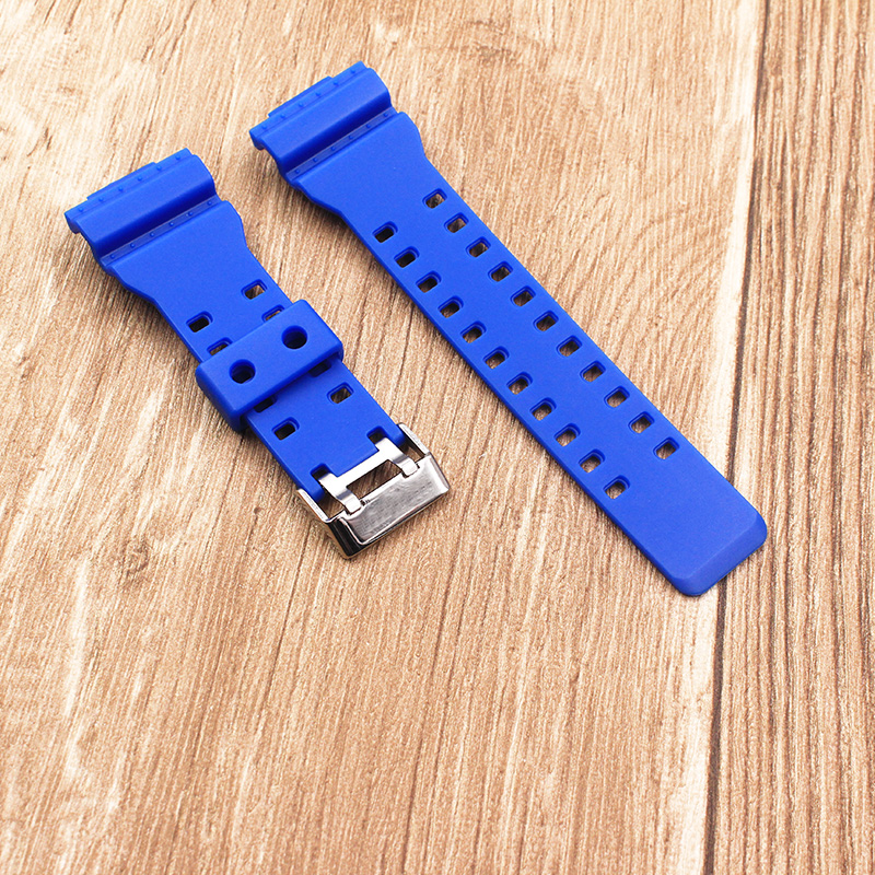 The latest rubber 16MM strap strap Apply to for Casio GA 100 GA 120 GA 120 G 8900 GD 100 GD 120 GA 100C watch accessories in Watchbands from Watches