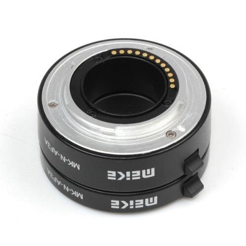 Meike MK-N-AF3A Metal Mount Automatic AF Auto Focus Macro Extension Tube Ring for Nikon 1 S1 J3 V2 J2 V1 J1 AW1 Lens Adapter macro extension tube for sony e mount ac ms silver grey