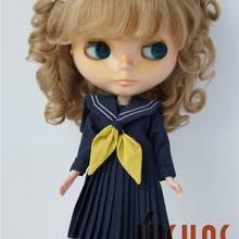 JD187 Размер 9-10 дюймов и 10-11 дюймов BJD парик для куклы мохеровый Длинный мягкий волнистый с 2 Пони Парики модные куклы аксессуары