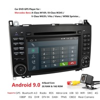 Hizpo 2din Android9.0 QuadCore CarDVD For Benz Sprinter W169 W245 W906 Viano Vito W639 B200 with WIFI GPS Navigation Radio 2GRAM