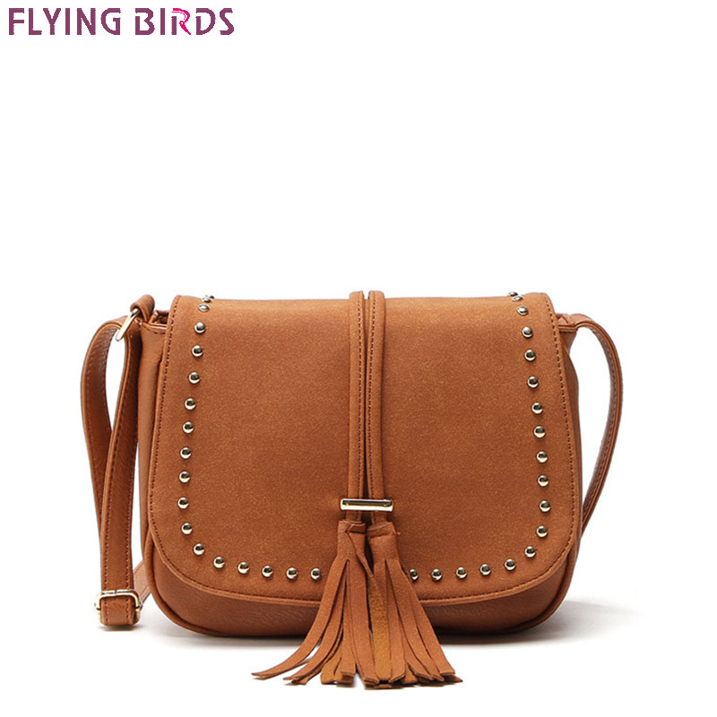 FLYING BIRDS Tassel Bag Famous Brand Bags Women Matte Leather Handbags Bolsas High Quality Women's Messenger Bags Designer Tote splendid 2016 new designer famous brand women leather handbags bags high quality women s messenger bags bolsas pouch bag tote