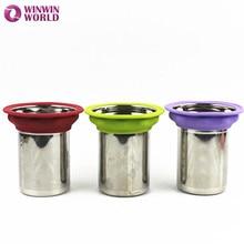 4 Size Stainless Steel tea filter Strainer Mesh Tea infuser Locking Spice Tea Strainers metal filters sliver color WW-KT009