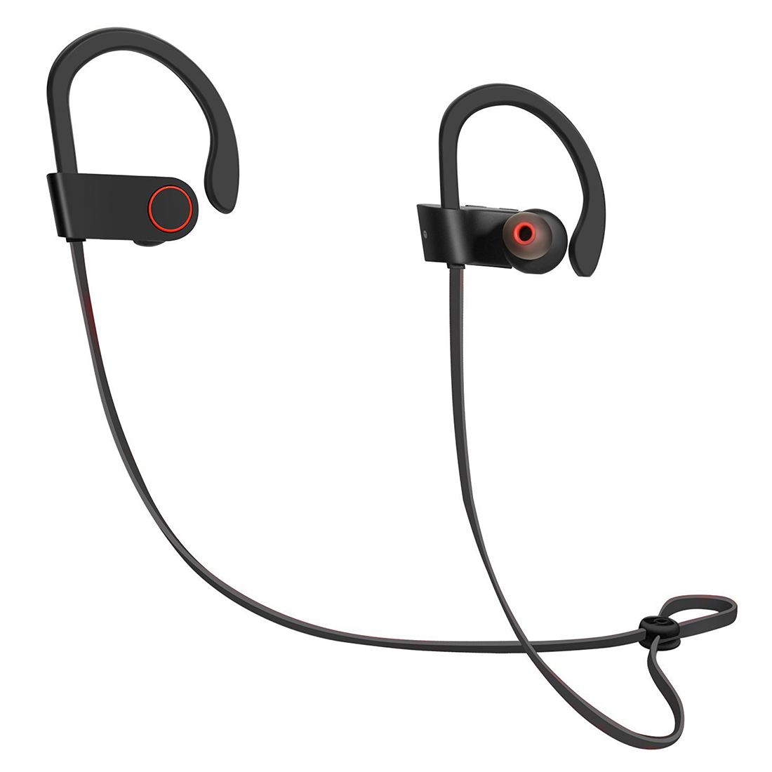 HOT-Wireless Headphones Bluetooth Earbuds Sweatproof In Ear Secure Fit Earphones Loud Bass Noise Reduction with Mic for iPhone