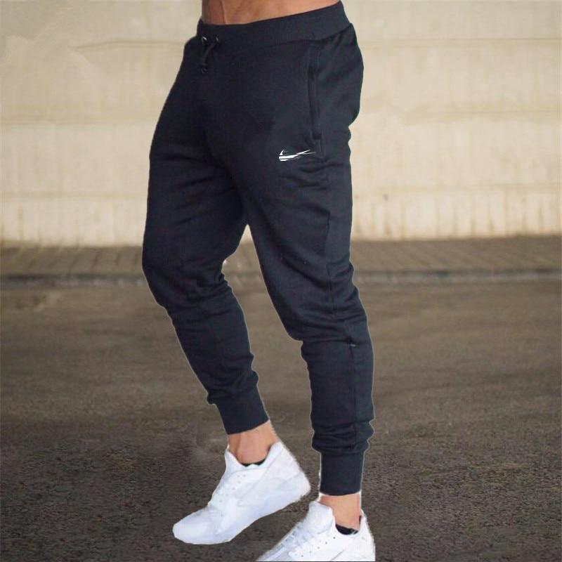 2018 Men Gyms Joggers Brand Male Trousers Casual Pants Sweatpants Men Gym Muscle Cotton Fitness Workout Hip Hop Elastic Pants Men's Clothing Pants