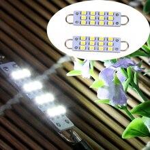 """2 шт. 44 мм 12-SMD жесткая петля белый гирлянда 1,7"""" светодиодный светильник лампы 561 562 567 564"""