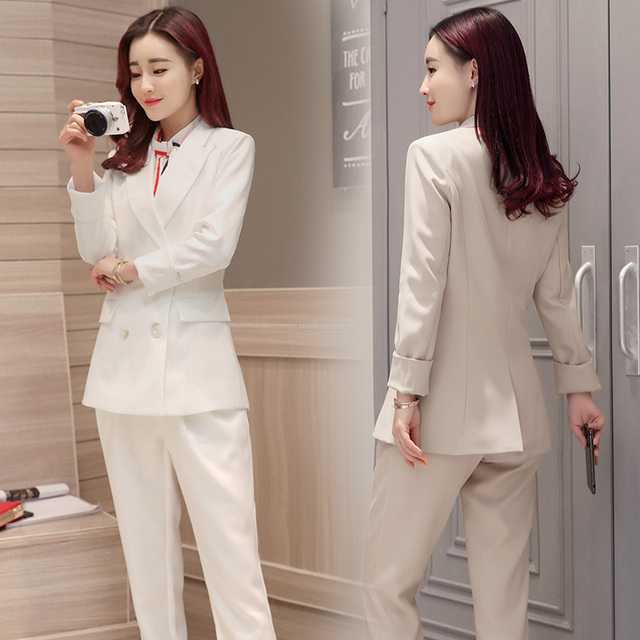 Aliexpress.com : Buy New 2017 elegant pant suits solid color ...