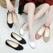Большие размеры 34-43; женская обувь на плоской подошве из искусственной замши; обувь на плоской подошве без застежки; балетки на плоской подошве; коллекция года; лоферы; водонепроницаемые мокасины; белая женская обувь; H7571