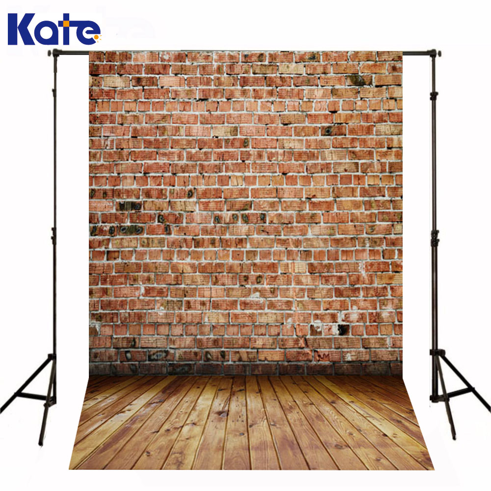 Kate Background Newborn Baby Red Brick Wall Fundo Fotografico Madeira Dark Wood Texture Floor Backdrops For Photo Shoot стоимость