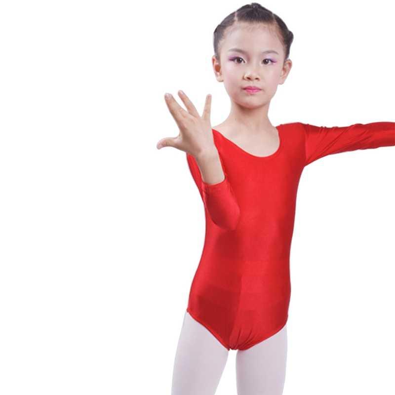 6961412a3 Children Kids Pink Long Sleeve Leotard Clothes Romper Girls Ballet Dance  Gymnastics Dancewear