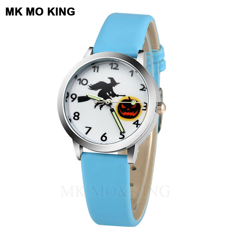 2019 Blue Cartoon Dial Child Watch Boy Long And Short Pointer Quartz Movement Clock Girl Holiday Gift Elogio Menino Children's Watches