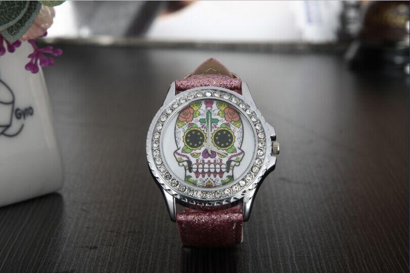New Arrival flower Skull  Watches hot selling For Women men unisex Dress Watches Quartz Watch free shipping обручальное кольцо эстет золотое обручальное кольцо est01о720145 23