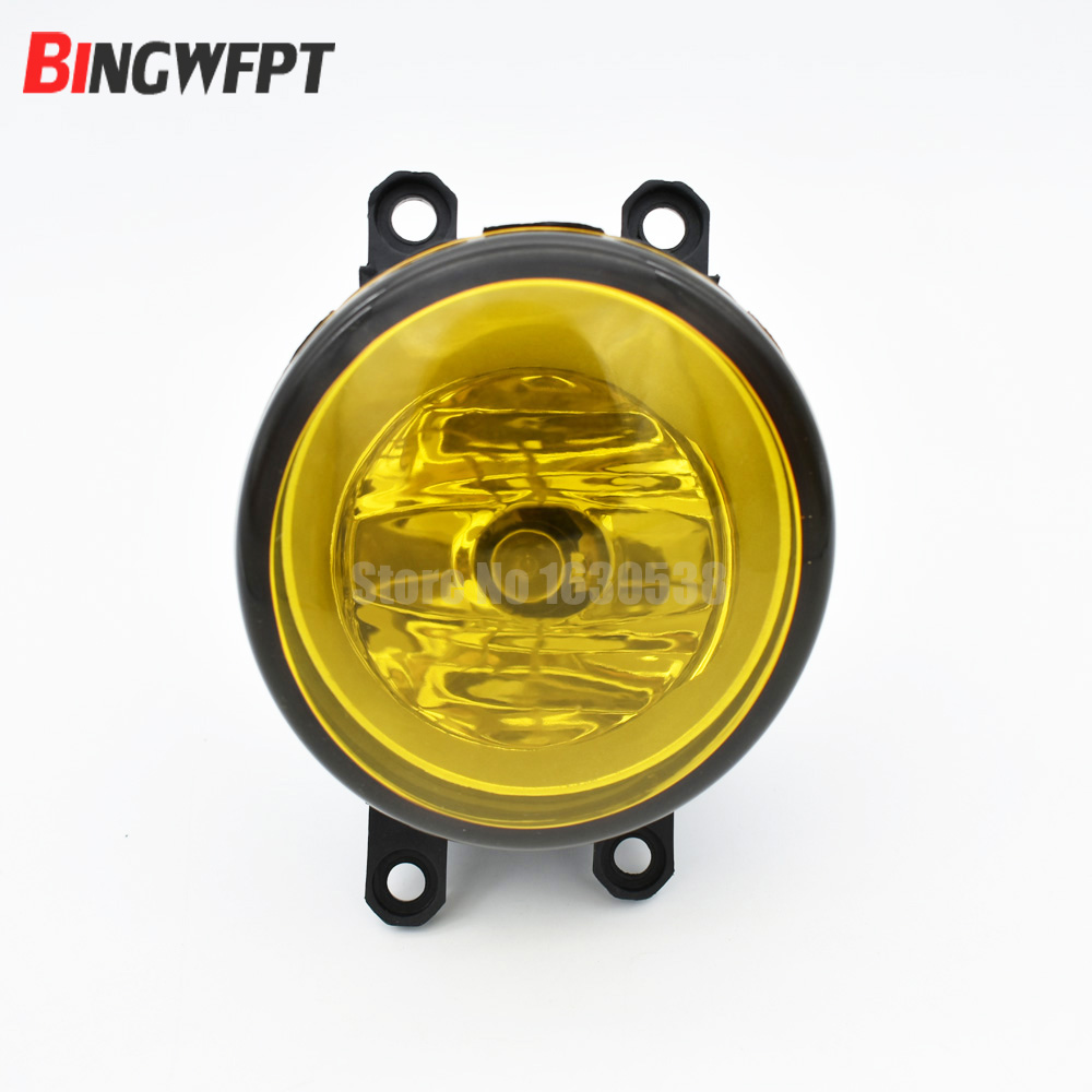 2pcs/set Left + Right RH LH Side 3000K Yellow Lens Fog Light Lamp For Toyota Venza 2009-2013 Increase Visibility fluorescence yellow high visibility