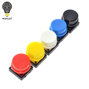 Image 3 - WAVGAT 25PCS Tactile Push Button Switch Momentary 12*12*7.3MM Micro switch button + 25PCS Tact Cap(5 colors) for Arduino Switch