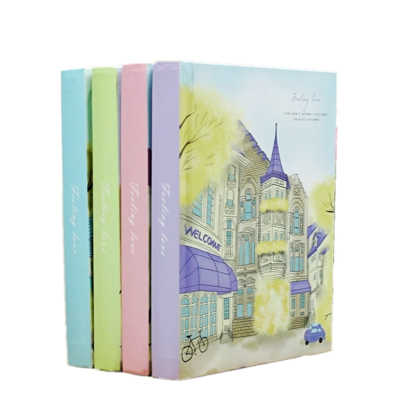 Korean Stationery Creative Notebook Vintage Hardcover Color Page