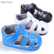 Baby Girls Boys Sandals 2017 Summer Style Sandals and Clogs Newborn Sandals PU Leather Black White Blue Color Sandalias De Bebe
