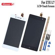 Alesser zte blade l7 용 lcd 디스플레이 및 터치 스크린 5.0 인치 교체 용 휴대 전화 액세서리 + zte blade l7 a320 용 도구