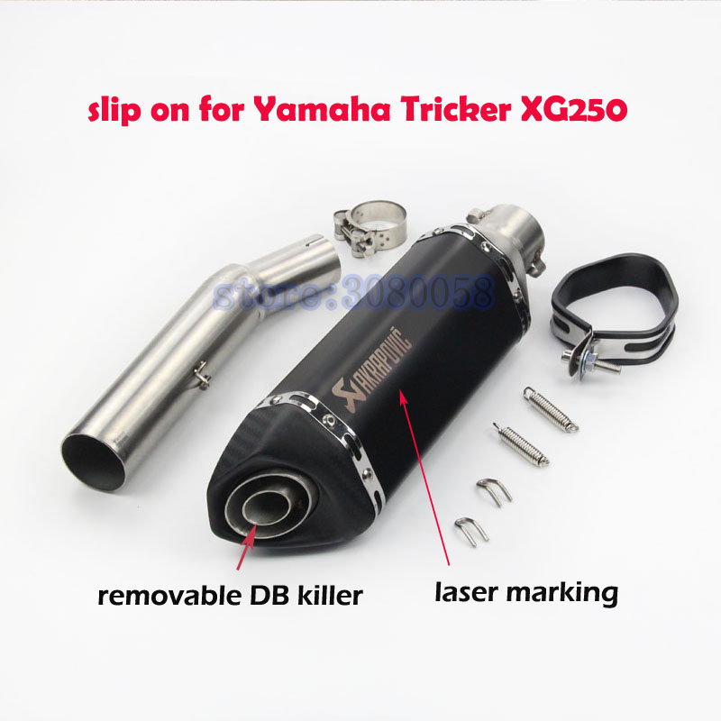 51mm Modified Motorcycle r Muffler Pipe slip on Sticker Exhaust Escape with DB Killer for Yamaha Tricker XG250