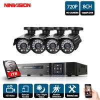 Video Surveillance Security Camera CCTV System Kit 8 Channel 1080N 720P CCTV DVR NVR AHD DVR 4pcs 1.0mp HD Home Security Camera
