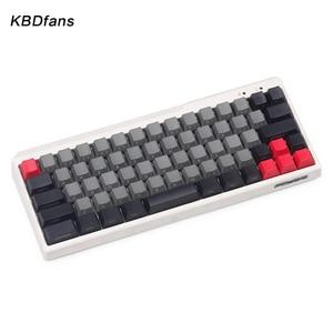 Image 2 - Black PBT blank white gray mechanical keyboard filco minila air thick PBT white side print keycap cherry mx OEM blac 3u sapcebar