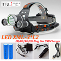 led headlamp XM-L 3*L2 9000LM Rechargeable LED Headlamp Headlight Outdoor Camp Lamp Head Torch+Ac/Usb/CAR Charger+18650 Battery