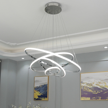 Modern LED Pendant Light creative hotel bar simple ring circular decorative dimming remote control contemporary pendant lamp цена