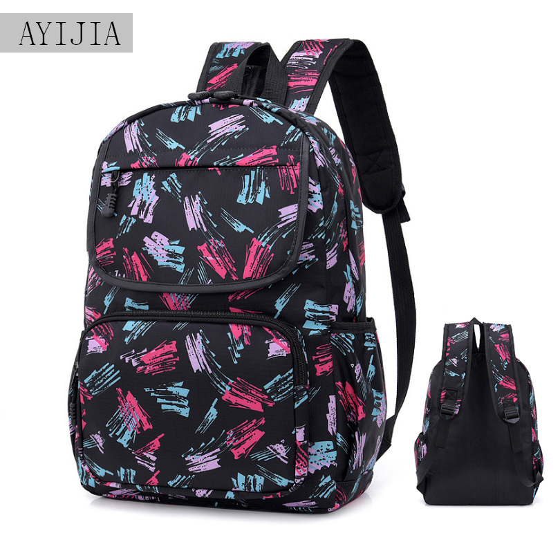 New Fashion Camouflage Campus Men And Women Couple Backpacks Student Bag Printing Doodle Ladies Backpack Computer Bag