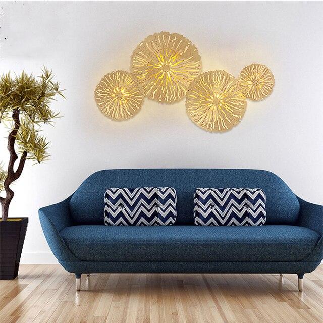Altın Lüks Duvar Lambası Arka Plan Ev Kapalı Oturma Odası Yatak Odası Yaratıcı Moda Aydınlatma Modern Cam ışık topları LED