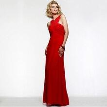 Vintage Red Gefaltetes Chiffon-Weibliches Kleid Chic Criss Cross Design Bodenlangen Abendkleider 2016 Vestido de festa