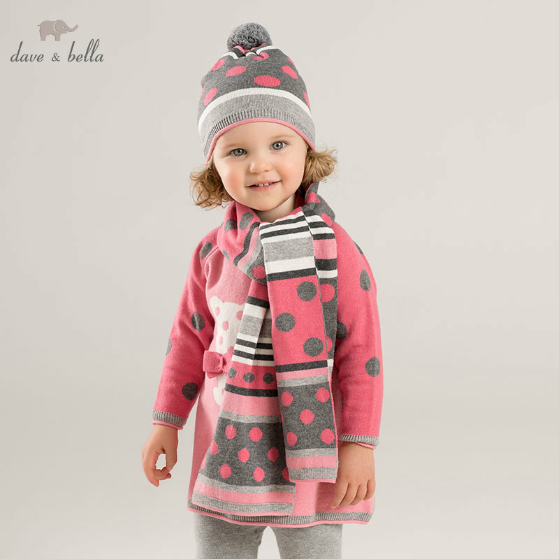 DBJ8305 dave bella autumn infant baby girls fashion top kids toddler pullover children boutique knitted sweater цена