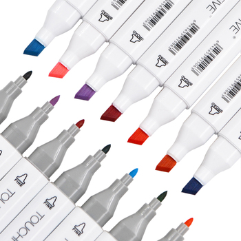 Touchfive 30406080 Colori A Doppia Testa Pennarelli Artistici Penna Grassa Alcolica Sketch Marker Pennello Rifornimenti Di Arte Della Penna Per L'animazione Manga Disegnare